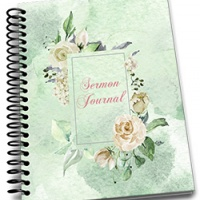 Cream Rose Sermon Journal