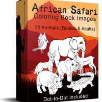 African Safari Coloring Book Images